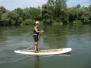Einsteigerkurs für SUP-Flussfahrt auf der Donau (Aug 2014)