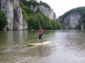 Einsteigerkurs für SUP-Flussfahrt auf der Donau