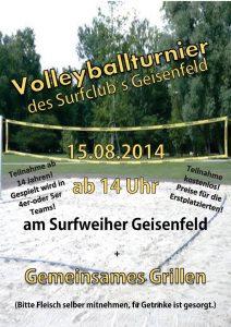 Volleyballturnier des Surfclub Geisenfeld 2014